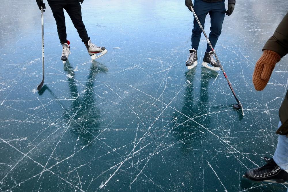 Hockey ice skating Sweden winter